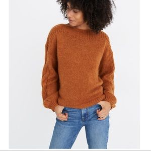 Madewell Cable-Sleeve Boatneck Sweater XXS